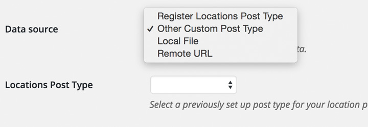 Add locations with a new or existing custom post type