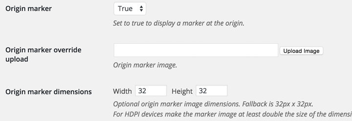 Use custom origin marker image