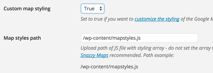 Implement custom map styling from Snazzy Maps or other source